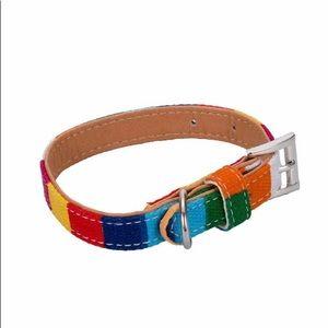 New Rainbow Dog Collars